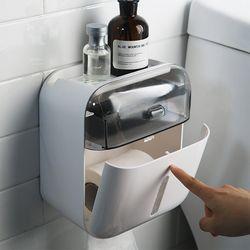 접착식 2단 휴지걸이 믹스 다용도 욕실 선반