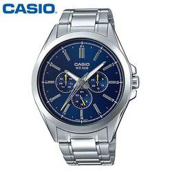 카시오 시계 MTP-SW300D-2A 메탈밴드 남성용 패션시계