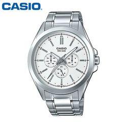 카시오 시계 MTP-SW300D-7A 메탈밴드 남성용 패션시계
