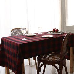 핀란드의 아침 체크식탁보(2color)-6인(220cmx100cm)
