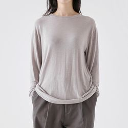 tencel slim tee (gray)