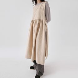 corduroy layered pure dress (2colors)