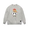V BEAR OVERSIZED HEAVY SWEAT CREWNECK GREY
