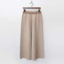 Herringbone Wool N Cashmere Wide Pants