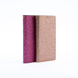갤럭시 S8 S8플러스 글리터 심플 가죽 지갑 케이스