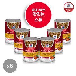 [배변패드 증정] 힐스 강아지 습식사료 캔  1-6세 354g x 6 [10450]