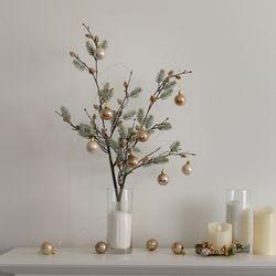 크리스마스 파인가지 솔나무가지 단품 인테리어 조화