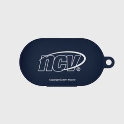 Quarter ellipse logo case-navy(buds jelly case)