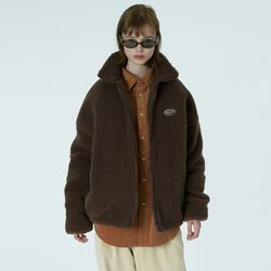 Original embroidery fleece jacket-brown