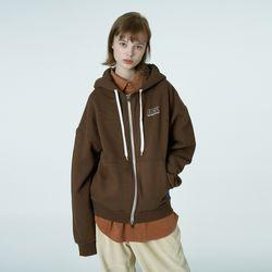 Ncv logo hoodie zipup-brown