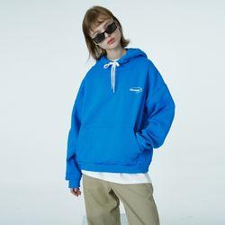 Quarter ellipse logo hoodie-blue