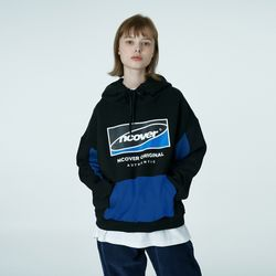 Big Square logo hoodie-black