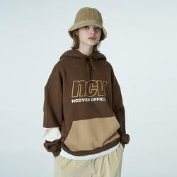 Big ncv logo hoodie-brown