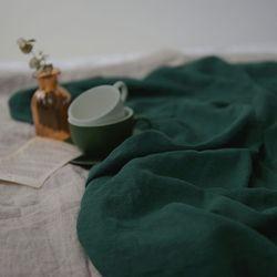 [Fabric] 백마포 모스 그린 - 퓨어린넨 캔버스