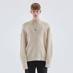 LONG SLEEVE OVER KNIT IVORY