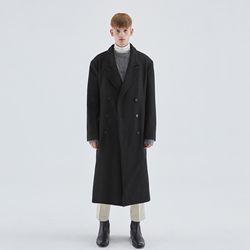 WOOL OVERSIZE DOUBLE COAT BLACK