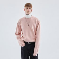 WOOL SOFT OVER KNIT PINK