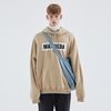 OVER-FIT NAPPING LOGO HOODIE BEIGE