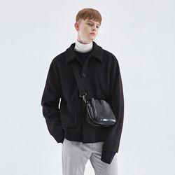 WINTER MINIMAL HALF COAT BLACK