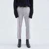 SIMPLE STRAIGHT SLACKS GRAY