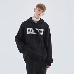 OVER-FIT NAPPING LOGO HOODIE BLACK