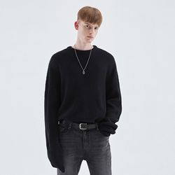 LONG SLEEVE OVER KNIT BLACK