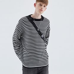 MILD STRIPE KNIT BLACK