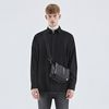 LOOSE-FIT HIDDEN SHIRTS BLACK