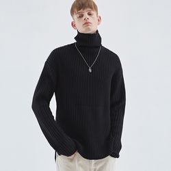 WARM TURTLENECK KNIT BLACK