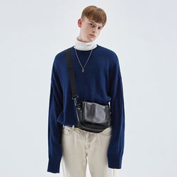 OVERSIZE LONG SLEEVE KNIT BLUE