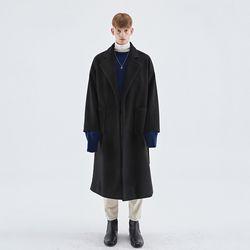 OVERSIZED ROBE LONG COAT BLACK