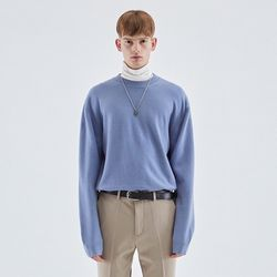 WOOL SOFT OVER KNIT BLUE