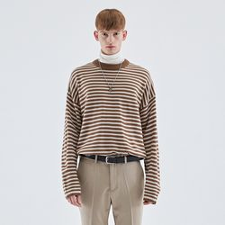 MILD STRIPE KNIT BROWN