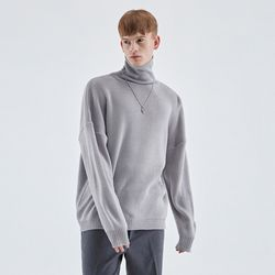 TURTLENECK LONG SLEEVE KNIT GRAY