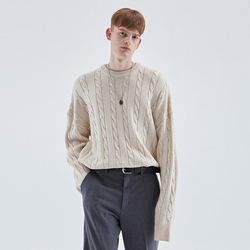 CREAMY CABLE KNIT SWEATER IVORY