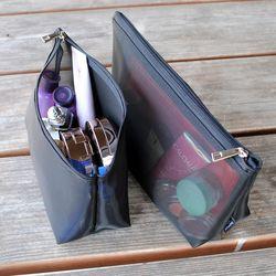 삼각 메쉬 망사 여행용 소지품 화장품 파우치 4종세트