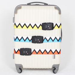 TSA 3다이얼 여행가방 터짐방지 가방보호벨트 - 지그재그