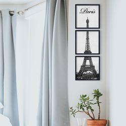 파리 에펠탑 사진 액자 3P세트 - Soho프레임