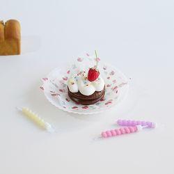 초코파이 케이크 캔들