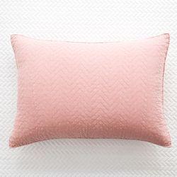 지그재그 60수워싱 핑크 베개커버 - 50x70cm