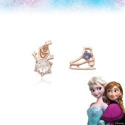 [클루X디즈니] 겨울왕국 올라프 실버 귀걸이 CLER19B0EPPL