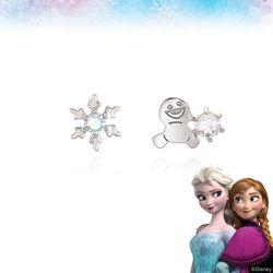 [클루X디즈니] 겨울왕국 스노기 눈꽃 실버 귀걸이 CLER19B0FPWW