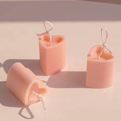 하트 보티브 캔들 (인테리어 디자인 필라 캔들) 분홍색