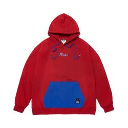 PARAGON OVERSIZED HEAVY SWEAT HOODIE RED