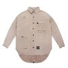 WASHED TECH OVERSIZED SHIRTS BEIGE