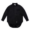 WASHED TECH OVERSIZED SHIRTS BLACK