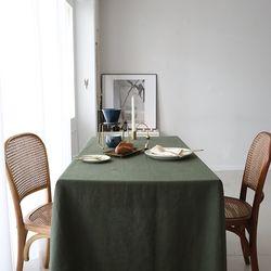 어텀 린넨식탁보-딥그린(2size)-6인용(220cmx130cm)