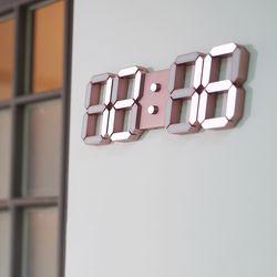 마이샤트 인테리어 LED 컬러 벽시계 브론즈 로즈골드