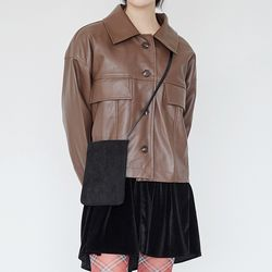 pocket leather jacket (2colors)