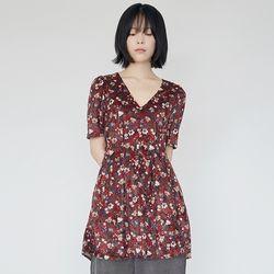 cute velvet mini dress (wine)